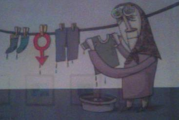 Exposición bienal de la caricatura de Teherán