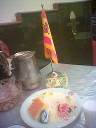 Banderita en el kebab