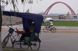 Siesta en el triciclo